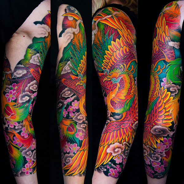 Japanese Sleeve Tattoo by George Bardadim