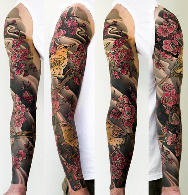 Japanese Sleeve Tattoo by George Bardadim