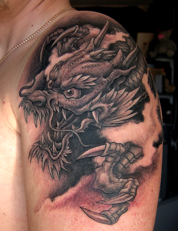 Japanese Dragon Tattoo by George Bardadim