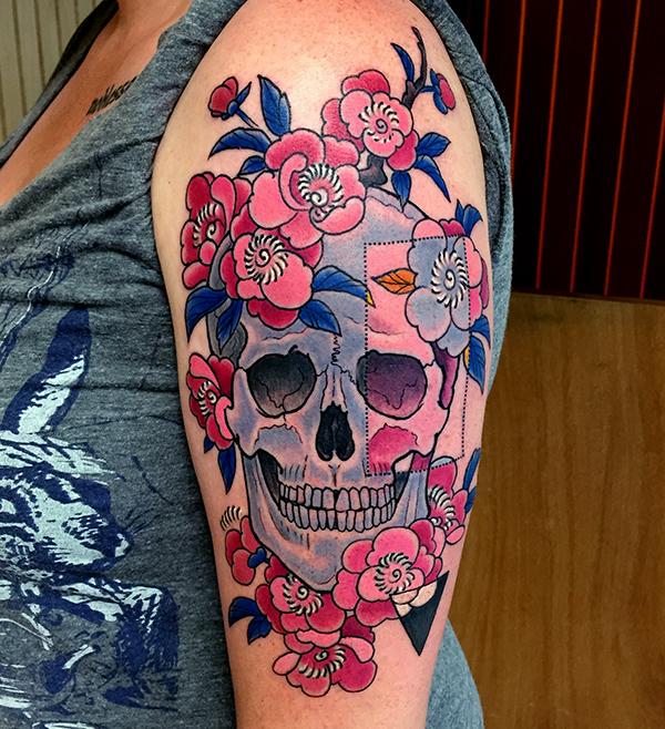 Skull Tattoo by George Bardadim
