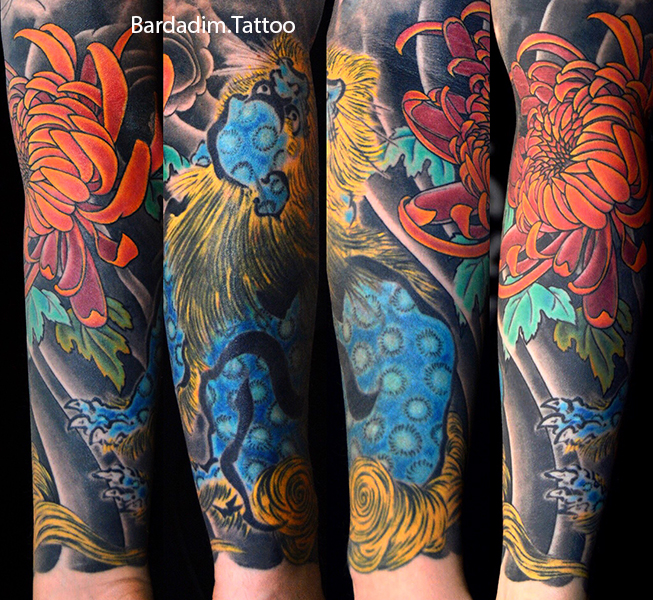 Japanese Half Sleeve Tattoo by George Bardadim